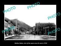 OLD 6 X 4 HISTORIC PHOTO OF MULLAN IDAHO THE MAIN SREET & STORES c1910