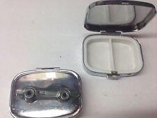 Chevrolet Corvette c1979 ref35 pewter effect car emblem on silver metal pill box