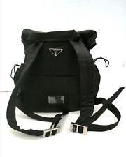 Authentic black Prada Bag pack medium size