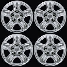"4 CHROME 01-05 Toyota RAV4 16"" Wheel Skins Hub Caps 5 Spoke Steel Rim Covers NEW"