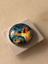 SNAP IN BUTTON CHARM FITS GINGER SNAPS STYLE JEWELRY WOLF SPIRIT #31 GLASS