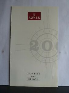 """ROVER 200 5-DOOR - """"UP WHERE YOU BELONG"""" - FOLD-OUT SALES BROCHURE 1989"""