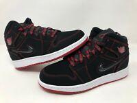 "Nike Jordan 1 Mid ""Fearless"" Black/Gym Red-White (GS) (CU6617 062)"