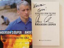Anderson Cooper SIGNED Book Autobiography War Disasters Vanderbilt Brother HC/DJ