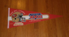 1988 San Francisco 49ers NFC Champs Super Bowl XXIII pennant Jerry Rice Montana