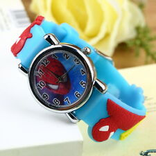 Fashion Cartoon Child Boy Kid Analog Quartz Children Wrist Watch Rubber Leather