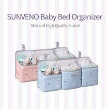 Sunveno Crib Hanging Baby Storage Organizer Essential Bedding Set,Diaper Bag