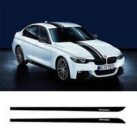 Jupe Seuil Autocollant Bande Latéral 2 Pièces M PERFORMANCE pour BMW Série 3 F30