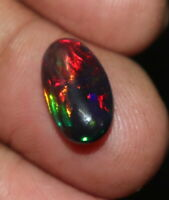 TCW 1.90 8x14 mm  NATURAL ETHIOPIAN WELO FIRE OPAL PEAR MULTI-COLOR CABOCHON 219