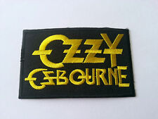 HEAVY METAL PUNK ROCK MUSIC SEW / IRON ON PATCH:- OZZY OZBOURNE (a) BLOCK