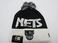 Brooklyn Nets Black NBA Retro Throwback New Era Ski Beanie Cap Winter Hat