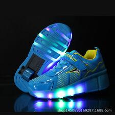 2017 LED Kids wheel Shoes Girls Boys LED Light up Roller Skate Sneakers Shoes