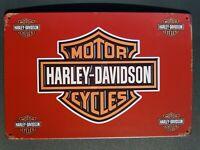 Blechschild Harley Davidson Retro 20 x 30 cm Vintage Nostalgie Metallschild NEU✅