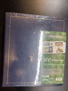 Pioneer 1997 Photo Album 100 Magnetic Fast-Stick  New Sealed in Plastic Blue
