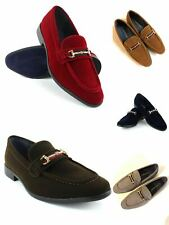 Velvet Buckle Slip On Moccasins Men's Dress Fashion Shoes PUC01 Size : 7.5--13