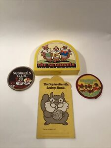 Vintage Glendale Federal Savings The Squirrels Club Promo Bank / Patches / Book