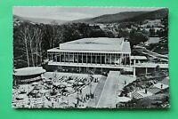 Hessen 2) AK Herzbad Orb 1950er neue Konzerthalle mit Kuranlage Gebäude
