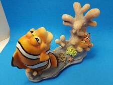 """Large Pen Plax Nemo And Marlin Coral Resin Ornament 11"""" In Length"""