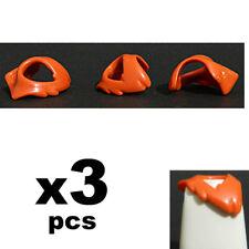 Playmobil  3pcs  Orange Chest Neck Shields Armor - Accessories