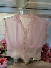 New listing Lovely Sheer 1940s Vintage Lavender Nylon Blouse M-L