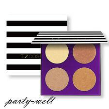 Face Bronze & Highlighter Bronzing Pressed Powder Makeup Contouring Palette Kit