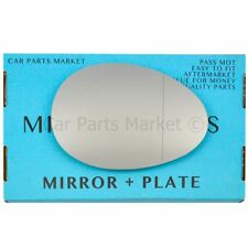 Right side Wide Angle Wing mirror glass for Mini One Cooper 2006-2013 +plate