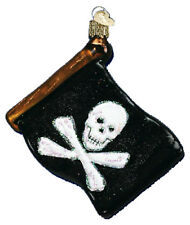 *Jolly Roger* Pirate Flag [36072] Old World Christmas Glass Ornament - NEW
