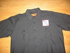 Pabst Blue Ribbon Beer Driver Salesman Long Sleeve Button Down Red Kap New Shirt