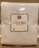 "NEW Pottery Barn Teen Classic Sailcloth Blackout Drape 44"" x 84"" WHITE"