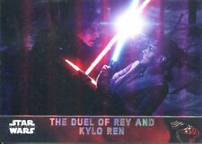 Star Wars Force Awakens Chrome Refractor Base Card #92 The Duel of Rey and Kylo