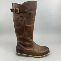 Sweet...Coast Brown Leather Knee High Zip Up Winter Riding Walking Boots 41 UK8