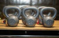 25lb Kettlebell Weider Cast Iron - Hammertone Finish (25lbs) - Same Day Shipping