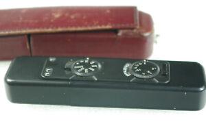 Rare black MINOX LX Subminiature Camera w/ Burgundy Leather Case and Manual
