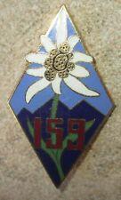 159° Régiment d'Infanterie Alpine, émail, épingle à pastille ajourée