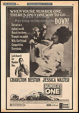 NUMBER ONE__Original 1969 Trade AD promo_poster__CHARLTON HESTON__JESSICA WALTER