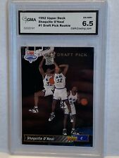 1992 Upper Deck Draft Pick Rookie #1 Shaquille O'Neal GMA Grading 6.5 EX-NM+