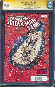 AMAZING SPIDER-MAN #700 SIGNED 3X STAN LEE, RAMOS +1 CGC SS 9.8 NEWSSTAND 1:100