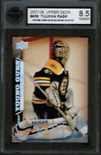 2007 08 UD Exclusives /100 Young Guns #456 Tuukka Rask Rookie Rc Ksa 8.5