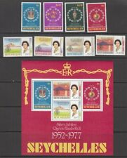 1977 Seychelles Queen Elizabeth 11 Silver Jubilee set of 8 mint stamps and mint