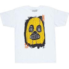 New Neff Mens Mr. Uzi Short Sleeve T-Shirt Large White