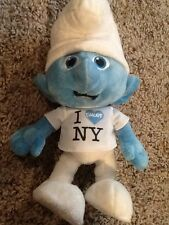 "The Smurfs Movie Plush Talking I Love Heart Smurf New York Tee Shirt 10"" Doll"