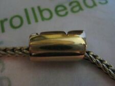 Authentic 18k Solid Gold Large Scoll Trollbead Style 2150 Retails $1428.00