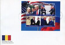 Chad 2018 FDC Donald Trump Putin 4v M/S Cover US Presidents Politicians Stamps