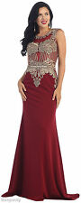 SALE ! PAGEANT FORMAL EVENING PROM DRESSES SPECIAL OCCASION SLEEVELESS LONG GOWN