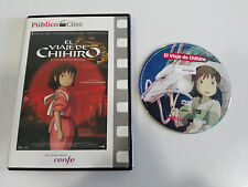 EL VIAJE DE CHIHIRO DVD SLIM STUDIO GHIBLI HAYAO MIYAZAKI ESPAÑOL JAPONES