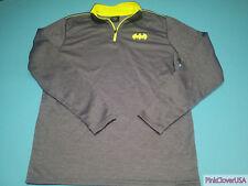 Batman Official Grey & Neon Green Soft Polyester Lined Fleece Jacket sz Adult M