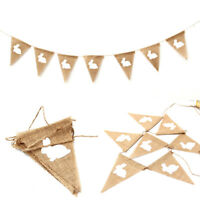 Rustic burlap bunny rabbit pennant flag banner bunting easter party garland Z0HW
