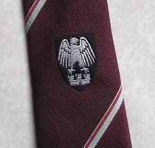 Eagle Falcon Tie Crest Logo Vintage con Borgogna 1980 S Leonard Hudson Londra