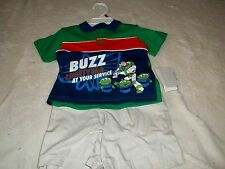 NEW TOY STORY SHORTS OUTFIT INFANT BOYS 12 MO'S  - BUZZ