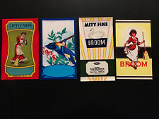 Vintage & Original Lot of 12 Unused Broom Labels